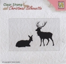 Nellies Choice Clearstamp - Reindeer