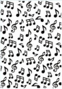 Hobby Solution Embossing Folder - Background Musical Notes